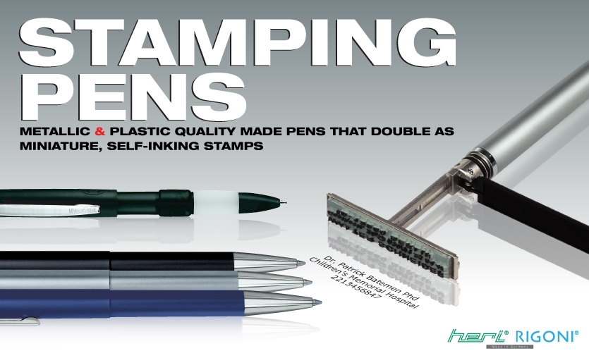 Browse our wide selection of ink stamping pens. For discounts or free shipping on bulk orders, call us at 323.463.3111.