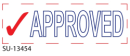 """SU-13454 - 2 Color """"Approved""""<BR> Title Stamp"""