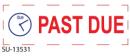"SU-13531 - 2 Color ""Past Due""<BR>Title Stamp"