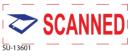 "SU-13601 - 2 Color ""Scanned""<BR>Title Stamp"