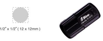 S-Q12 - S-Q12 Self-Inking Round Handy Pocket Stamp