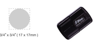 S-Q17 - S-Q17 Self-Inking Round Handy Pocket Stamp