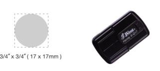 S-Q17 - S-Q17 Self-Inking Round Handy Pocket Stamp