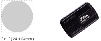 S-Q24 - S-Q24 Self-Inking Round Handy Pocket Stamp