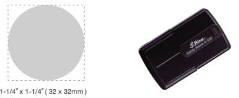 S-Q32 - S-Q32 Self-Inking Round Handy Stamp