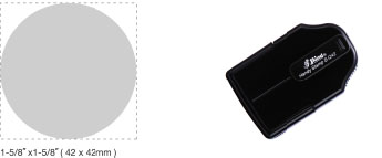 S-Q42 - S-Q42 Self-Inking Round Handy Stamp