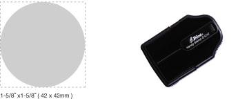 S-Q42 - S-Q42 Self-Inking Round Handy Stamp